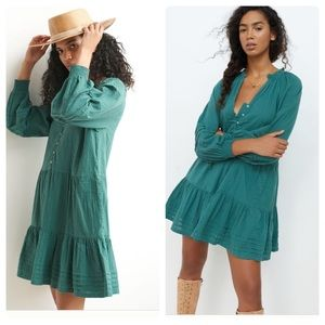 Anthropologie Carrie tiered tunic dress